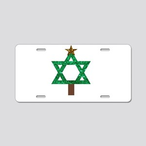 christmukkah christmas tree Aluminum License Plate