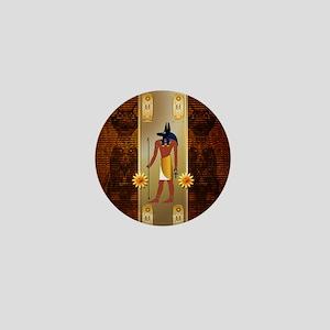 Anubis, ancient Egyptian god Mini Button