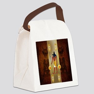 Anubis, ancient Egyptian god Canvas Lunch Bag