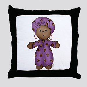 African Doll Throw Pillow