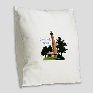 Currituck Beach Burlap Throw Pillow