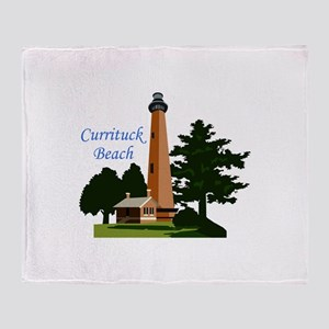 Currituck Beach Throw Blanket