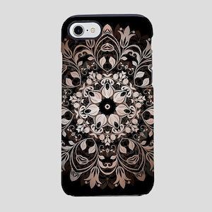 Rose Gold Black Floral Manda iPhone 8/7 Tough Case