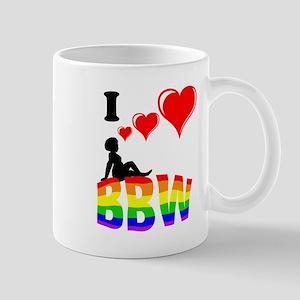 I Love BBW Pride Mugs