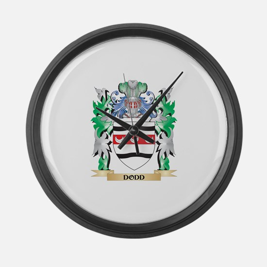 Dodd Coat of Arms (Family Crest) Large Wall Clock