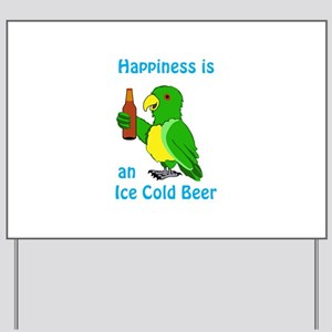 Ice Cold Beer Yard Sign