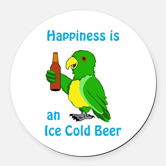 Ice Cold Beer Round Car Magnet