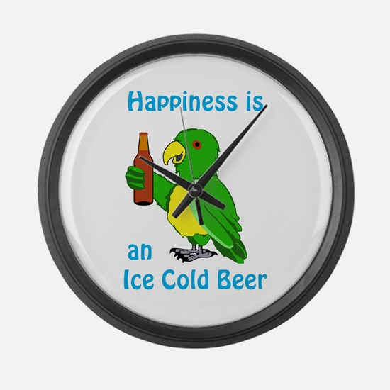 Ice Cold Beer Large Wall Clock