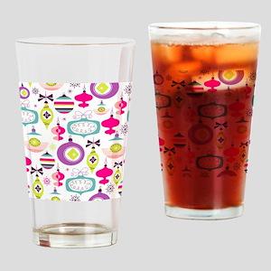 Mid Century Modern Christmas Pattern Drinking Glas
