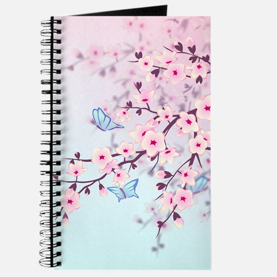 Cherry Blossom with Butterfly Journal