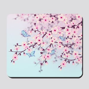 Cherry Blossom with Butterfly Mousepad