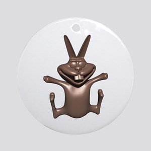 Funny Chocolate Bunny Ornament (Round)