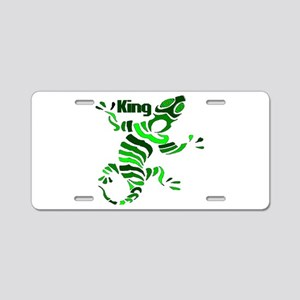 The Lizard King Aluminum License Plate