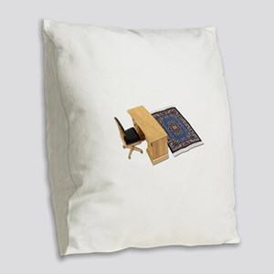 SimpleOffice090410 Burlap Throw Pillow