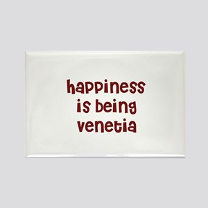 happiness is being Venetia Rectangle Magnet
