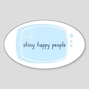 Shinny Happy People Oval Sticker