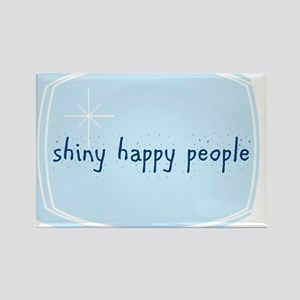 Shinny Happy People Rectangle Magnet