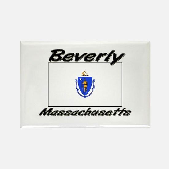 Beverly Massachusetts Rectangle Magnet
