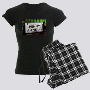 Penny Lane liverpool England Women's Dark Pajamas