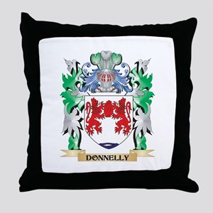 Donnelly Coat of Arms (Family Crest) Throw Pillow