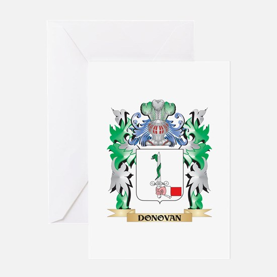 Donovan Coat of Arms (Family Crest) Greeting Cards