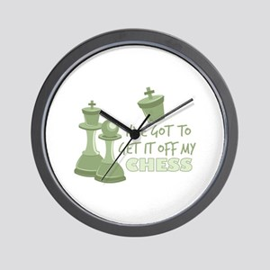Off My Chess Wall Clock