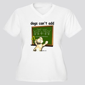 Dogs can't add Women's Plus Size V-Neck T-Shirt