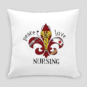 Peace Love Nursing Everyday Pillow