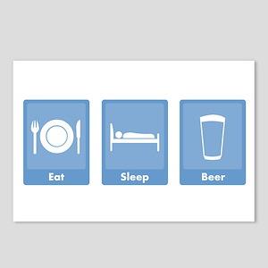 Eat Sleep Beer Postcards (Package of 8)