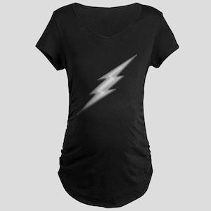 Lightning Bolt Chrome Maternity Dark T-Shirt