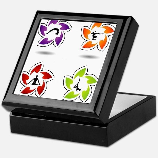 yoga and meditation symbols Keepsake Box