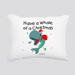 Have a Whale of a Christ Rectangular Canvas Pillow