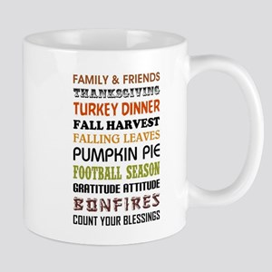 HAPPY THANKGIVING Large Mugs