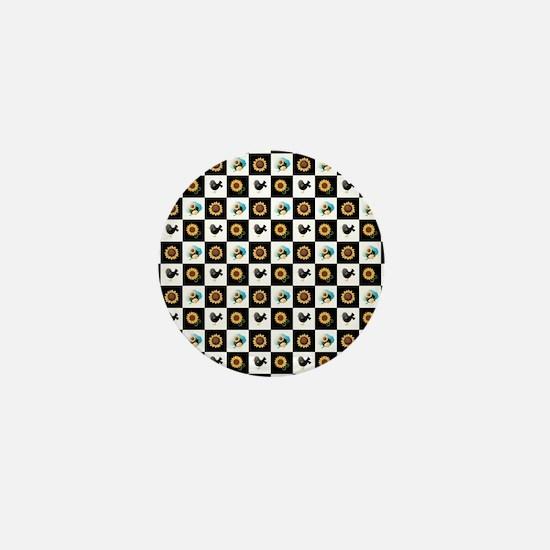 SUNFLOWERS & SCARECROWS Mini Button