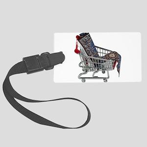 RugsShoppingCart090410 Large Luggage Tag