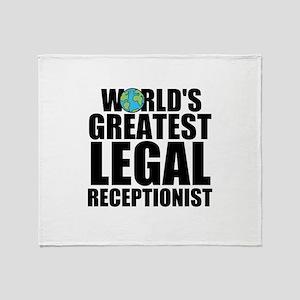 World's Greatest Legal Receptionist Throw Blan