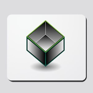 Hollow cube- an enclosed space with open Mousepad