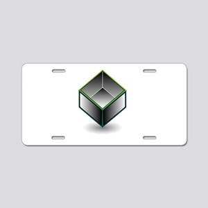 Hollow cube- an enclosed sp Aluminum License Plate