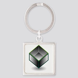 Hollow cube- an enclosed space with open Keychains