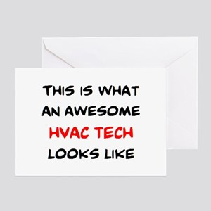 awesome hvac tech Greeting Card
