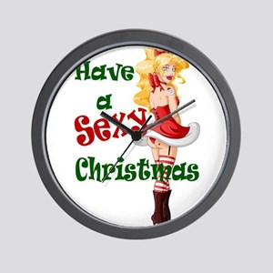 Have a Sexy Christmas Wall Clock