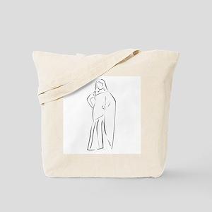 Asian girl wearing sari Tote Bag