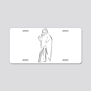 Asian girl wearing sari Aluminum License Plate
