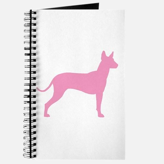 Xolo Dog Pink Profile Journal