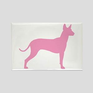 Xolo Dog Pink Profile Rectangle Magnet