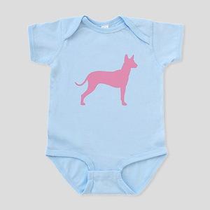 Xolo Dog Pink Profile Infant Bodysuit