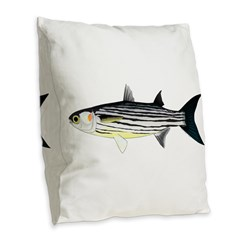 Cape Verde Mullet Burlap Throw Pillow