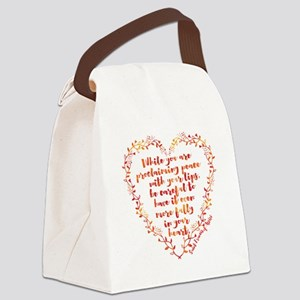 Fully in Your Heart Canvas Lunch Bag