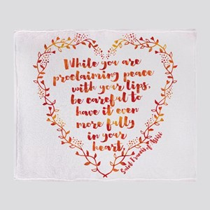 Fully in Your Heart Throw Blanket