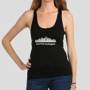 Seattle Cityscape Skyline Racerback Tank Top